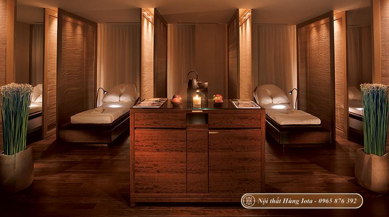 Thiết kế nội thất spa chất liệu gỗ theo phong cách Nhật Bản