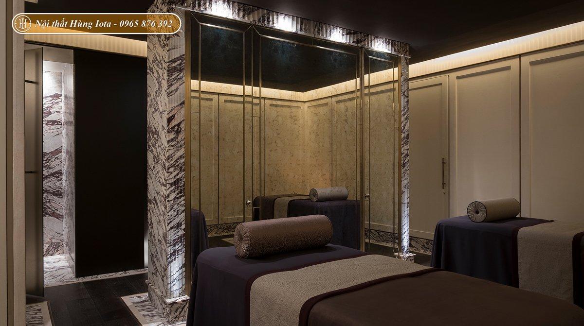 Thiết kế phòng massage spa hơi hướng cổ điển