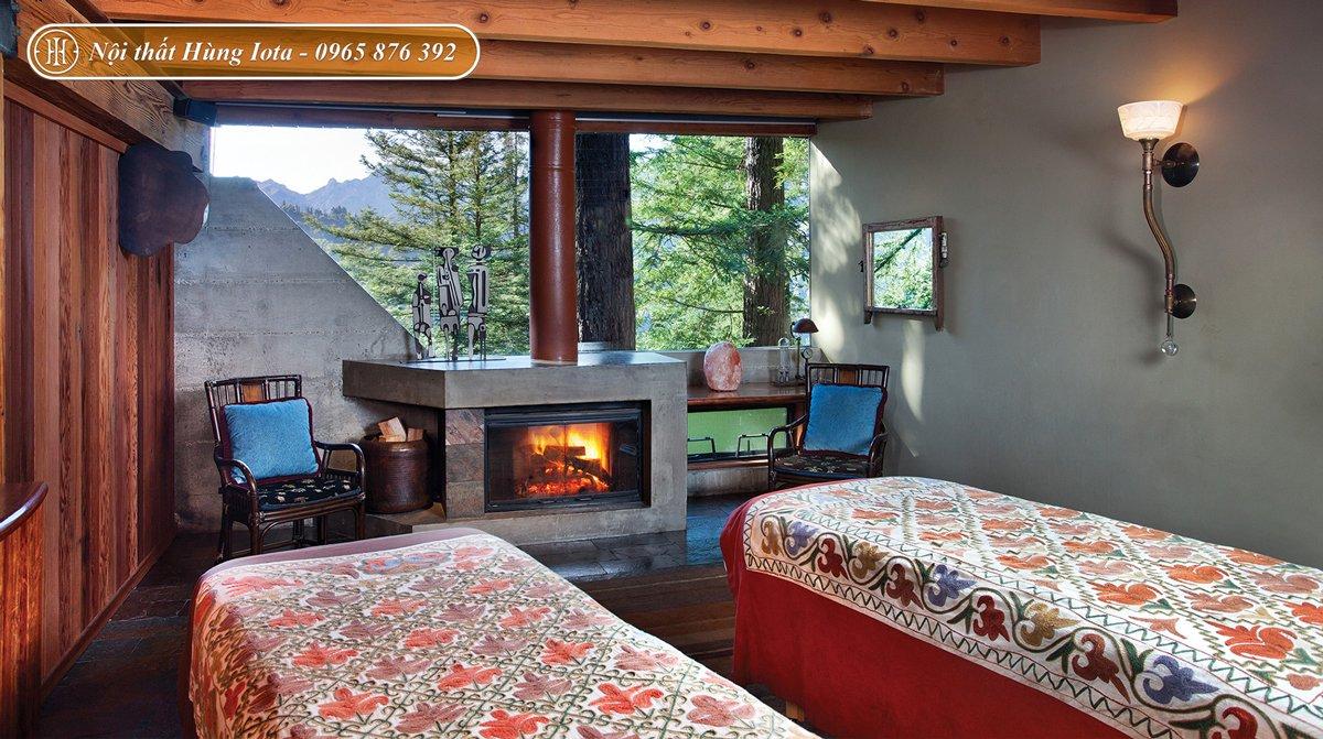 Thiết kế phòng spa phong cách rustic mộc mạc
