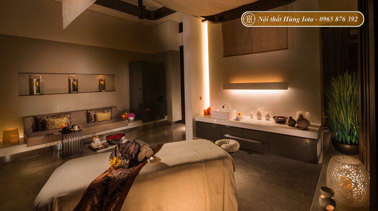 Thiết kế phòng spa tone màu nâu trầm ấm