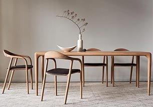 Thumb bàn ghế ăn neva màu gỗ