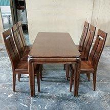 Bộ bàn ăn 6 ghế gỗ sồi chất lượng cao cấp, giá tốt cho gia đình BGA26