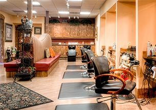 Thumb thiết kế spa kết hợp salon tóc tone cam nâu