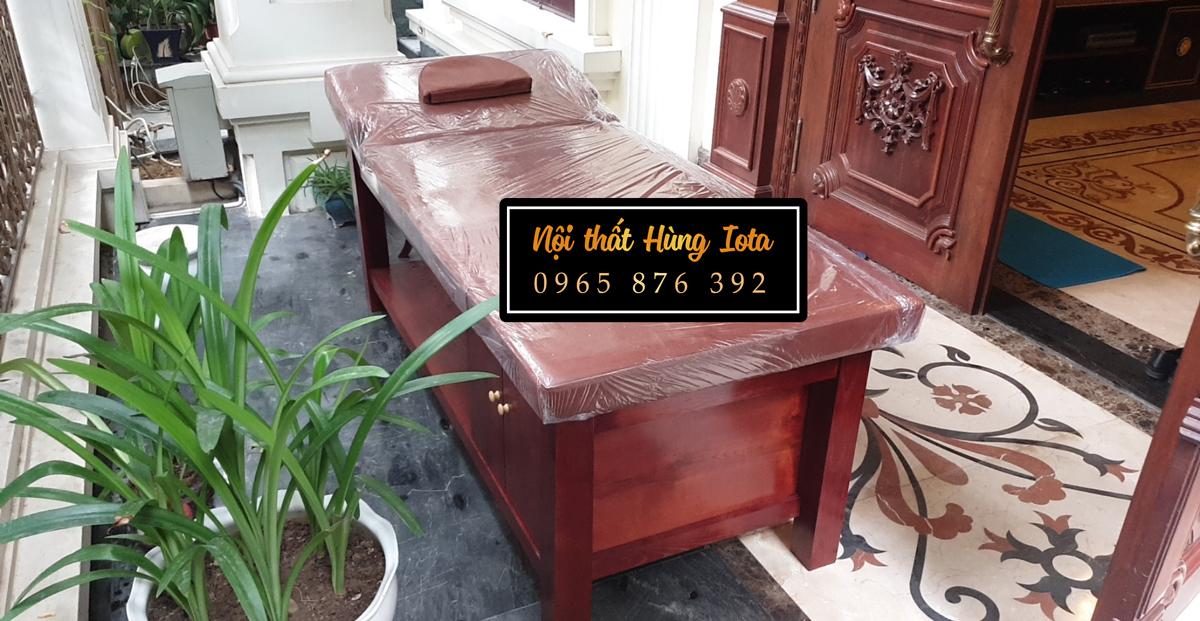 Giường massage gỗ cho biệt thự ở Mỹ Đình