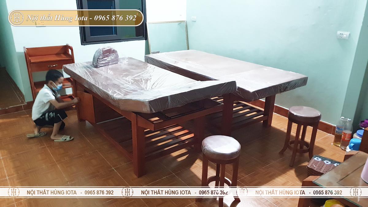 Giường spa phòng khám đông y ở Quảng Ninh