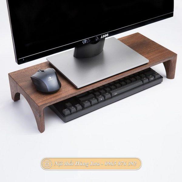Kệ để màn hình máy tính bằng gỗ sồi cao cấp