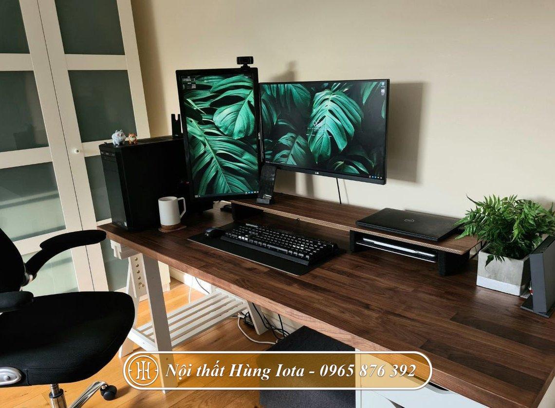 Kệ gỗ để màn hình máy tính loại dài