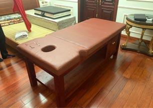 Thumb giường massage gia đình cao cấp sơn đỏ giả gỗ hương