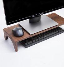 Kệ đỡ màn hình máy tính bằng gỗ màu óc chó sang trọng KMT05