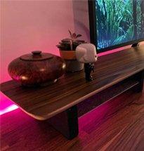Kệ gỗ kê màn hình máy tính để bàn, laptop, iMac, tivi loại dài KMT06