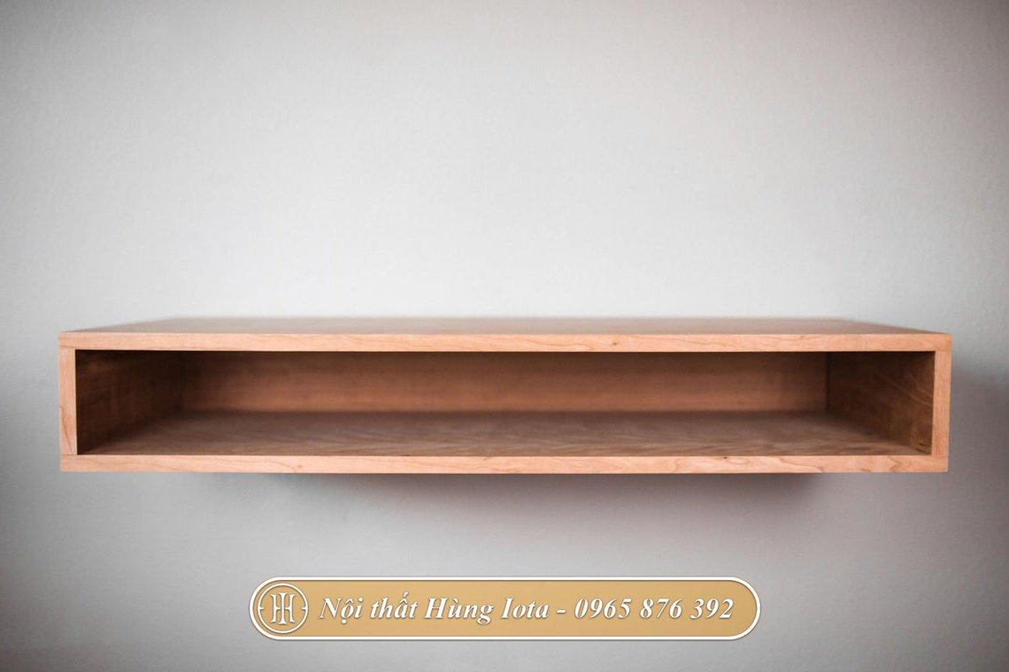 Bàn làm việc treo tường đơn giản hiện đại màu gỗ