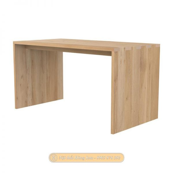 Bàn làm việc văn phòng loại dài bằng gỗ sồi cao cấp