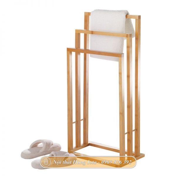 Giá treo khăn phòng tắm 3 tầng màu gỗ tự nhiên