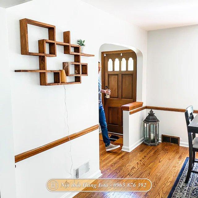 Kệ gỗ treo tường decor đựng đồ gia đình