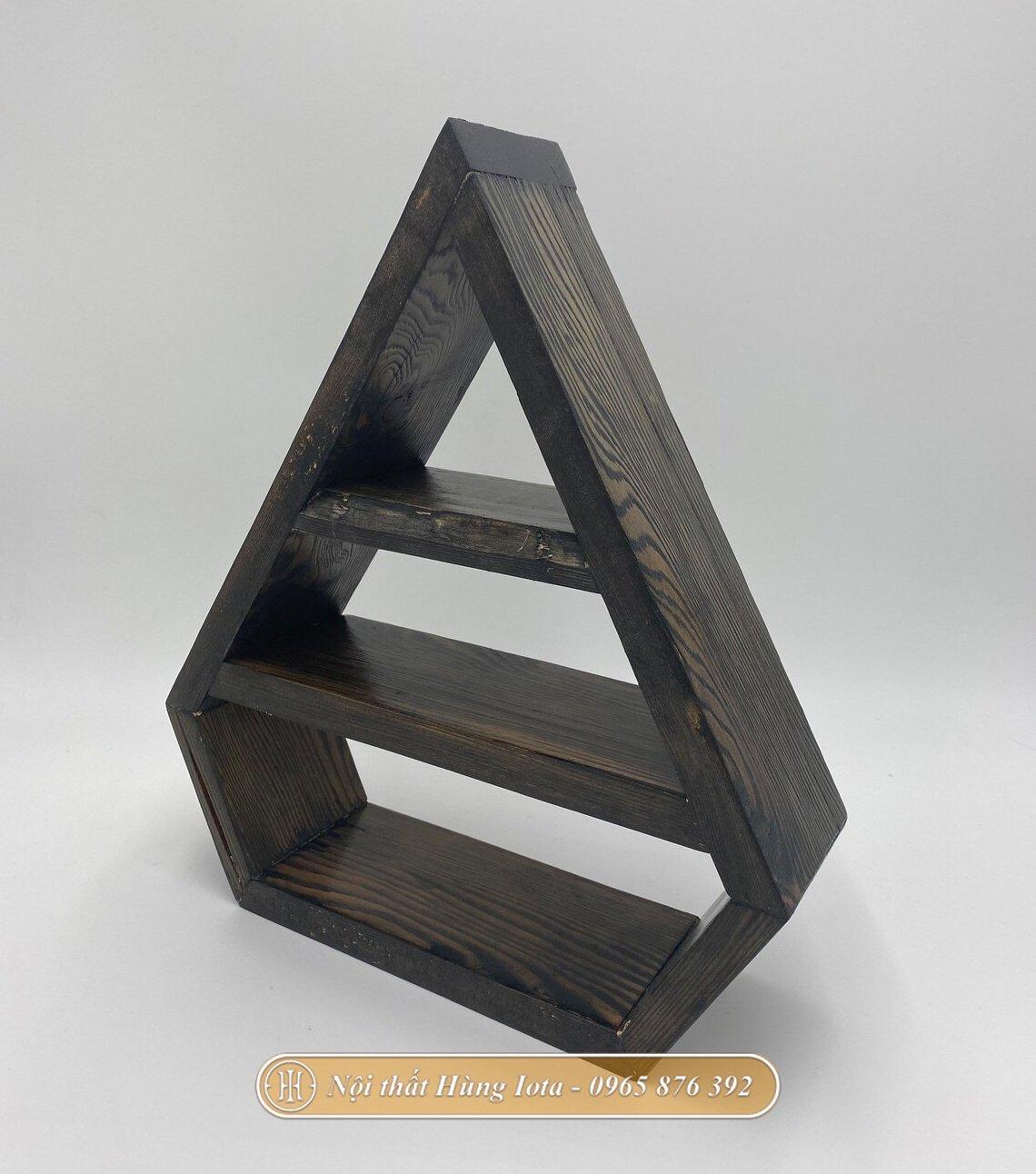 Kệ trang trí để bàn hình giọt nước màu đen hiện đại