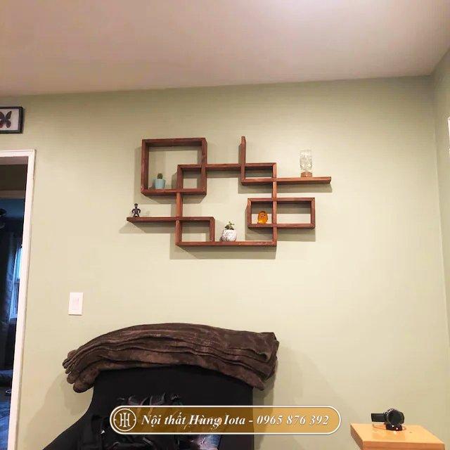 Kệ treo tường đựng đồ decor spa, salon tóc
