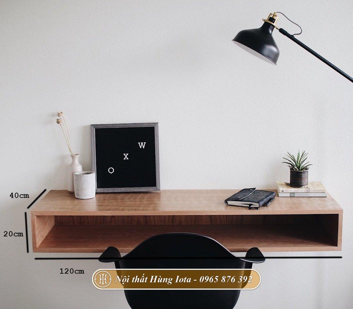 Kích thước bàn làm việc treo tường tại nhà