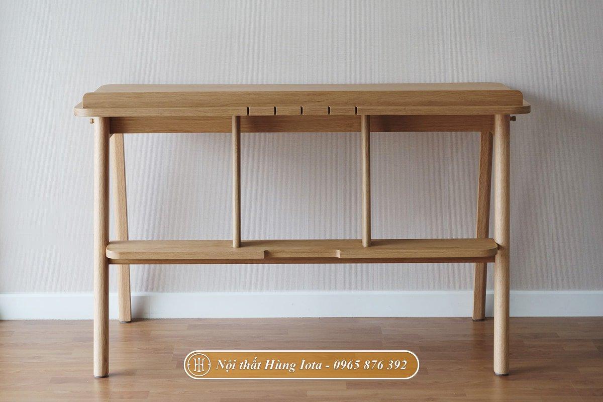 Mặt sau bàn học gỗ sồi
