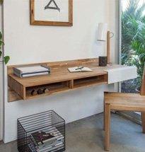 Bàn học treo tường màu gỗ tự nhiên đẹp hiện đại BGD10