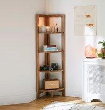 Kệ gỗ đựng sách góc tường 4 tầng đa năng, nhỏ gọn KG27