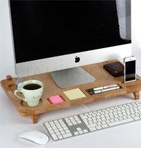 Kệ gỗ kê iMac đa năng có nhiều ô nhỏ đựng đồ decor đẹp tiện lợi KMT09