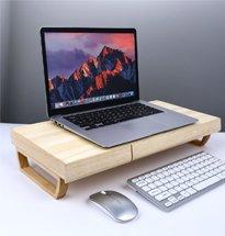 Kệ gỗ kê laptop, màn hình decor đẹp hiện đại, giá rẻ KMT08