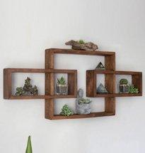 Kệ gỗ treo tường độc đáo kết hợp 3 khung gỗ hình chữ nhật KG61