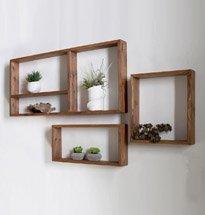 Kệ treo tường hình chữ nhật nhỏ gọn bằng gỗ đựng đồ decor KG66