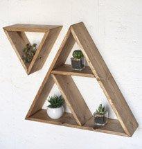 Kệ gỗ treo tường hình tam giác đơn giản, công dụng đa năng KG73
