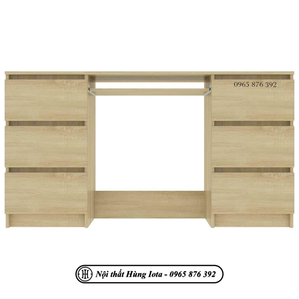 Bàn học đơn giản màu gỗ có ngăn đựng bàn phím