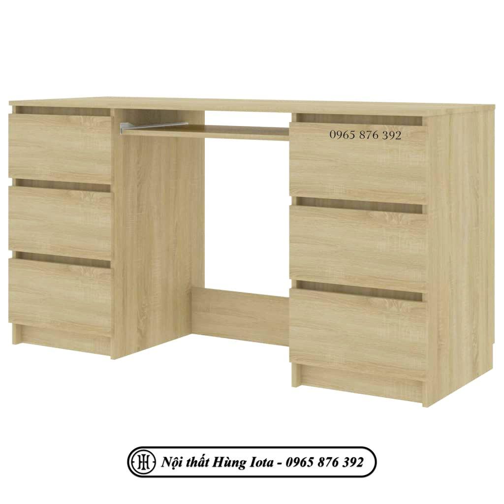 Bàn học gỗ công nghiệp có 6 ngăn kéo đựng đồ