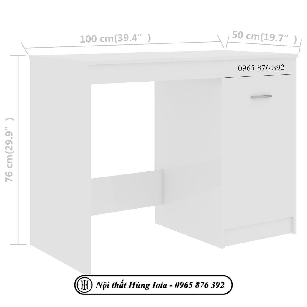 Kích thước bàn học tại nhà có tủ đựng đồ