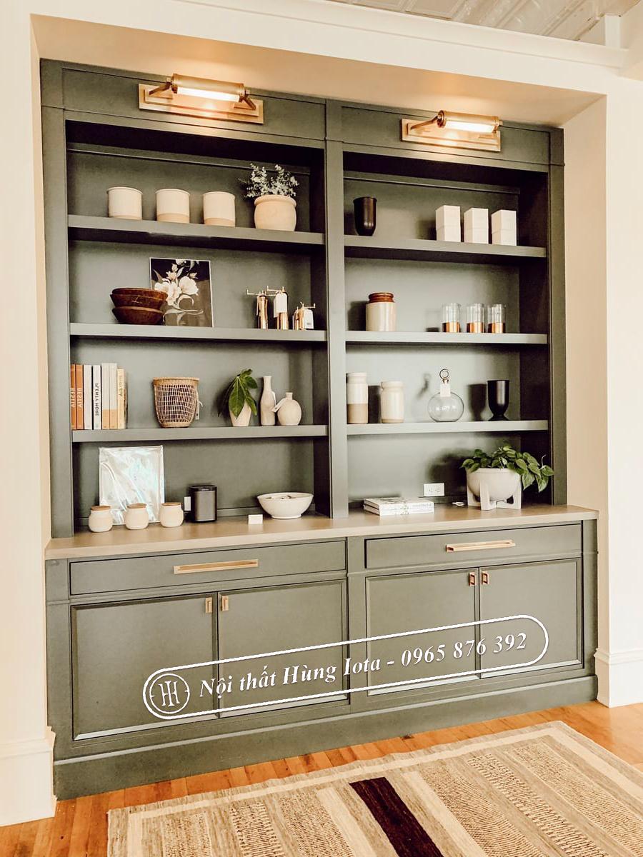 Mẫu tủ sản phẩm hay mẫu tủ trưng bày kiểu cổ điển