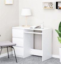 Bàn học màu trắng có tủ 3 ngăn kéo nhỏ gọn, tiện dụng BGD69