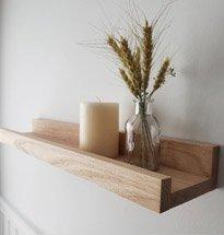 Kệ treo tường đơn giản có gờ đựng đồ decor gia đình, spa, salon KG81