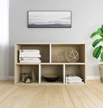 Tủ đựng sách 5 ngăn màu gỗ tự nhiên mẫu mã đơn giản, hiện đại TDD61