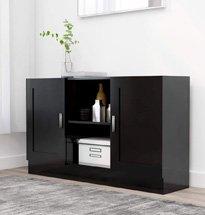 Tủ đựng đồ gia đình màu đen hiện đại chất liệu gỗ công nghiệp TDD56