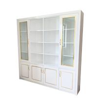 Tủ spa trắng cánh kính viền vàng TSP87