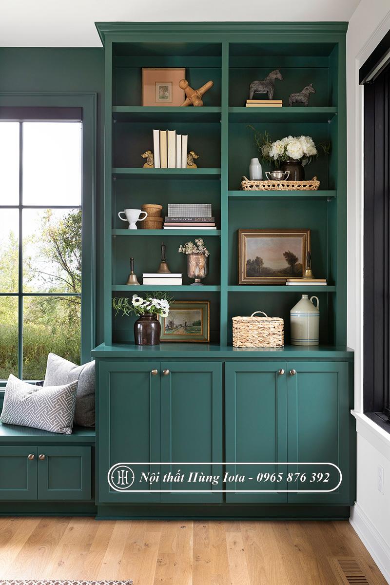 Tủ spa màu xanh lục hay mẫu tủ trưng bày mỹ phẩm