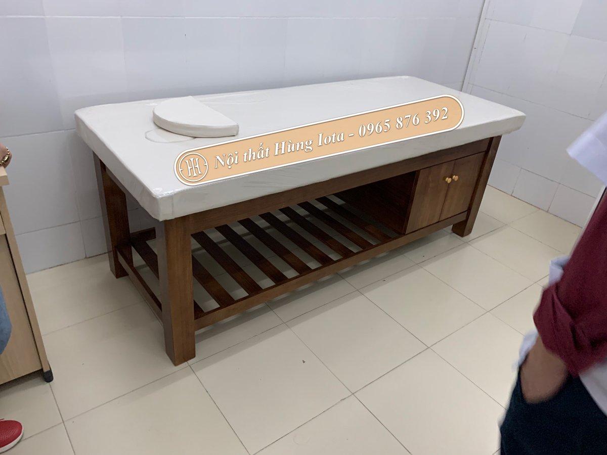 Mẫu giường gỗ spa cao cấp cho bệnh viện tại Sóc Sơn